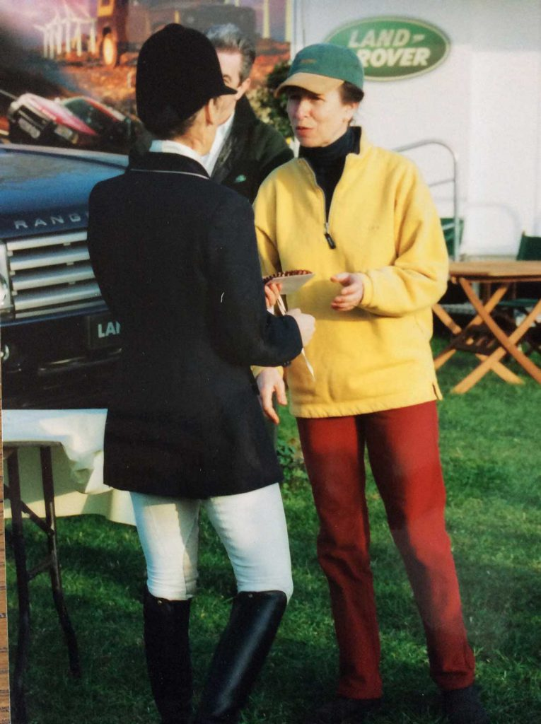Princess Anne presents Marie Ryan with rosette