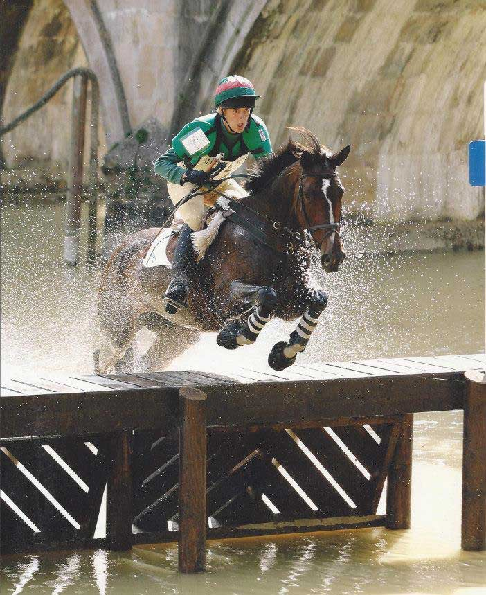 Marie Ryan riding Penny Royal III at Burghley