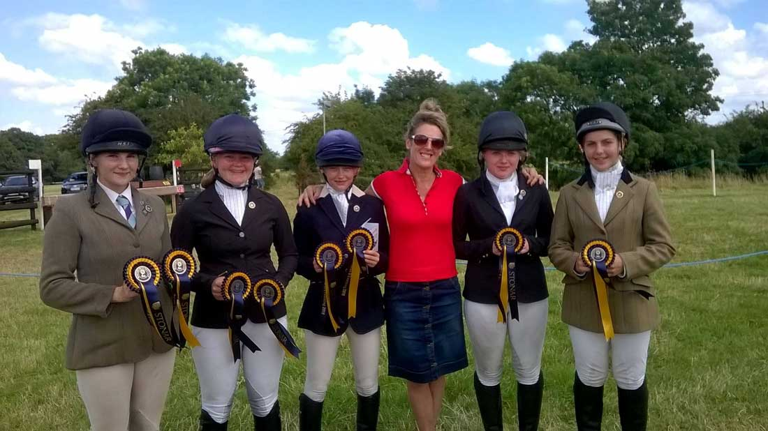 Marie Ryan with successful Pony Club team