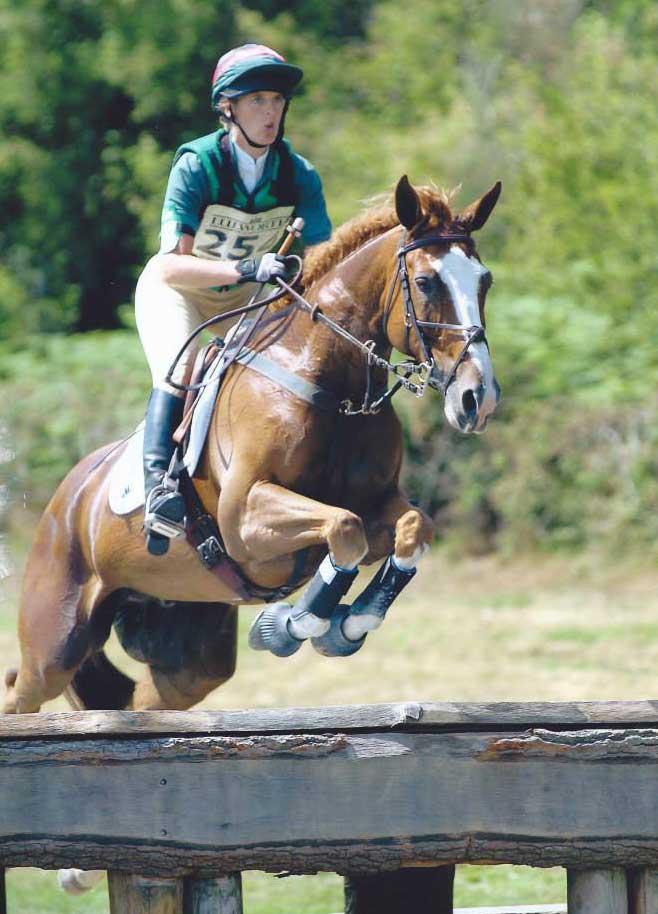 Marie Ryan riding Sparrow Hall at Lulworth