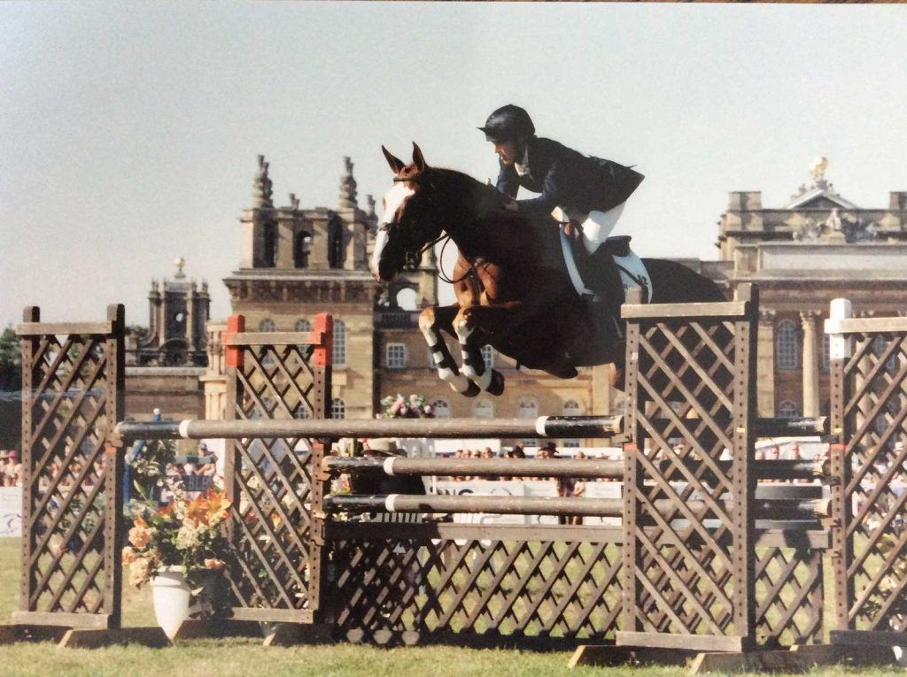 Marie Ryan with Sparrow Hall at Blenheim